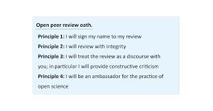 Peer Reviews Open Peer Review Open Peer Review