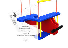 childrens airplane rope swing full size woodworking plan