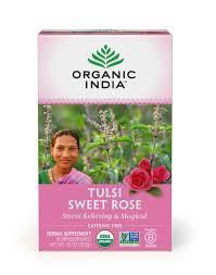 Organic India <b>Tulsi Tea Sweet Rose</b> -- 18 Tea Bags - Vitacost