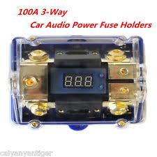 mini fuse block 3 way car audio power fuse holder stereo distribution block fusebox led display