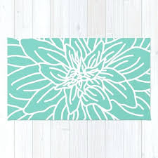 mint green kitchen rugs abstract flower rug by
