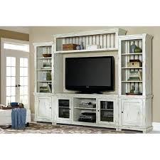 entertainment wall units distressed white 4 piece rustic center willow furniture with electric fireplace