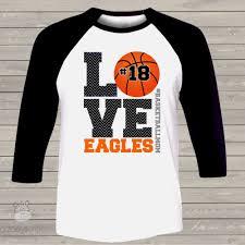Basketball Cheer Shirt Designs Basketball Mom Three Quarter Raglan Shirt Love Basketball