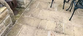 remove black spot from sandstone patios