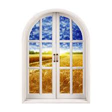 Artificial Window Cornfield View Pag 3d Artificial Window 3d Wall Decals Room