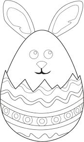 Kleurplaat Vrolijk Pasen Nou Ja Een Haas In Het Ei
