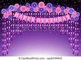 Happy Birthday Background Images Happy Birthday Background With Purple And Pink Paper Flowers And