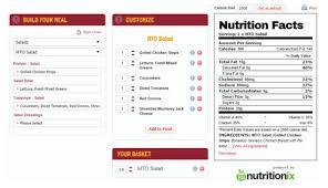wawa nutrition calculator