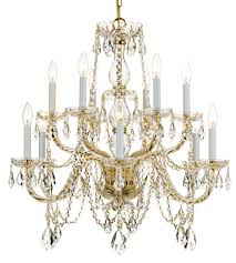 crystorama 1135 pb cl saq traditional crystal 12 light 31 inch polished brass chandelier ceiling light in swarovski spectra saq polished brass pb