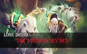 dota 2 store lone druid the atniw s fury set youtube
