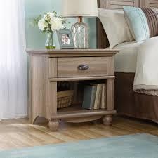 Sauder Bedroom Furniture Sauder 415004 Harbor View Collection Salt Oak Night Stand