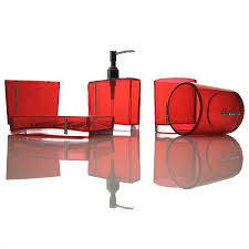 red glass bathroom accessories. Red Bathroom Accessories Sets Glass S