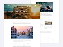 Post Ui Design Rome Italy Simple Travel Blog Post Page Ui Design On