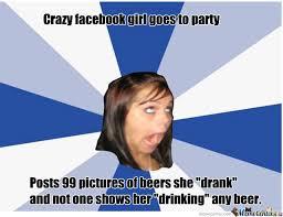 Crazy Facebook Girl Strikes Again by uglypieman12 - Meme Center via Relatably.com
