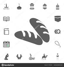 Bread Barakat Icon Ramadan Kareem Eid Mubarak Vector Illustration