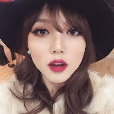 more and more korean people will adopt dark lip colours in korean makeup looks