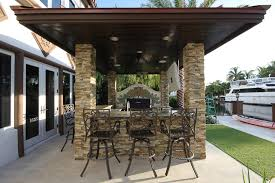 Custom Outdoor Kitchen Designs Gorgeous Tiki Huts And Outdoor Kitchens Luxury Pool Builder Palm Beach