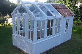 shed with greenhouse