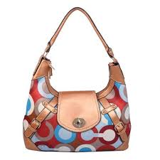 Coach Turnlock Large Gold Hobo BAG