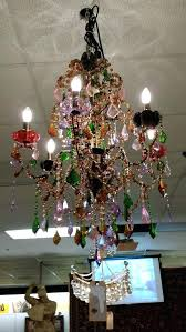 multi colored crystal chandelier chandelier french quarter new red blue gold green multi color crystal traditional