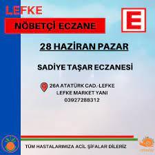 28 Haziran Pazar Nöbetçi Eczane... - Lefke Belediyesi