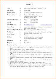 Great Biodata Resume Word Format Ideas Example Resume Ideas