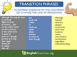 Transitional Words For Argumentative Essay Transition Words And Phrases To Use For Contradiction Or