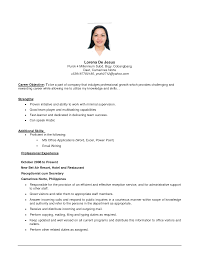 resume simple example sample resume simple 19 89 fascinating example examples of resumes