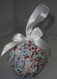 Free Pattern – Quilted Christmas Ornaments (no sew) with a VIDEO ... & Christmas ornament made with yo-yo's, pearls and ribbon, and Styrofoam ball. Adamdwight.com