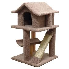 Cat Playhouse Designs Dazzling Unique Cat Tree House Design Ideas With Brown Color