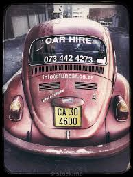 red volkswagen beetle for hire cape