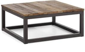 civic wood metal square coffee table zin home