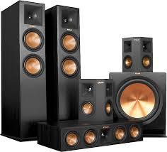 klipsch surround sound speakers. klipsch rp-280 5.1 home theater speaker system (ebony front/center) featuring high-performance reference premiere speakers at crutchfield.com surround sound