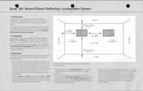 bose 301 series ii. start reading bose 301 series ii directreflecting loudspeaker system sold from 1983 to 1991 user manual ii