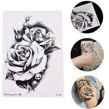 Rose Flower Decal Tattoo Přenos Vody Vodotěsné Dočasné Tattoo Samolepka Pro Krásu ženské Tělo Makeup Art 150x105mm At Vova