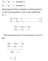 rules for linear equation
