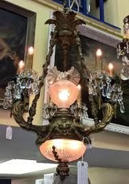 solid bronze french chandelier 1930 s nine lights all crystal three lights i