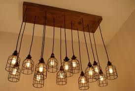 image of diy edison bulb chandelier