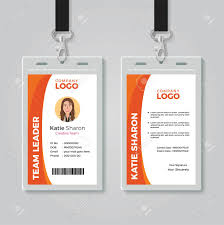 Company Id Card Template Orange And White Corporate Id Card Template