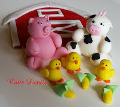 Cake Decorating Animal Figures Farm Cake Topper Etsy