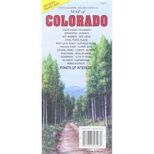 Colorado Mileage Chart Colorado Folding Travel Map The Map Shop