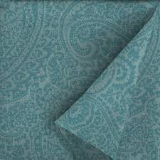 allen roth 54 in w spa blue kensley paisley outdoor fabric by