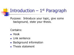 essay outline introduction  amp  conclusion  introduction –  st    introduction –  st paragraph purpose  introduce your topic  give some background  state