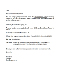 Unpaid Internship Offer Letter 8 Internship Offer Letters Free Samples Examples Format Download