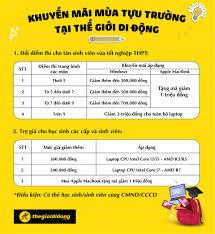 Thế Giới Di Động tung ưu đãi laptop cho học sinh, sinh viên tựu trường - Đồ  2-Tek - Việt Giải Trí