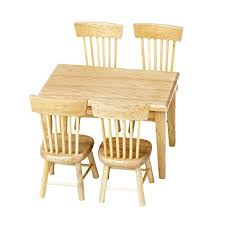 furniture miniature. Lowpricenice 5pcs Wooden Dining Table Chair Model Set 1:12 Dollhouse Miniature Furniture O