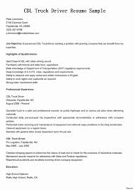 Courier Driver Resume Sample Lovable Truck Driver Resume No