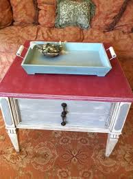 shabby chic furniture nyc. Pair Of French Grey And Red Shabby Chic End Tables By Fancher New York Refurbished Furniture Nyc E
