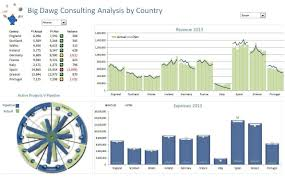 Consulting Charts A Consulting Firm Excel Dashboard Charts Excel