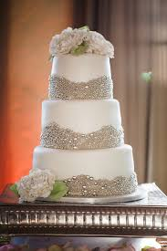 Silver Balls For Cake Decorating Amazing Sparkling Metallic Wedding Cakes Mywedding